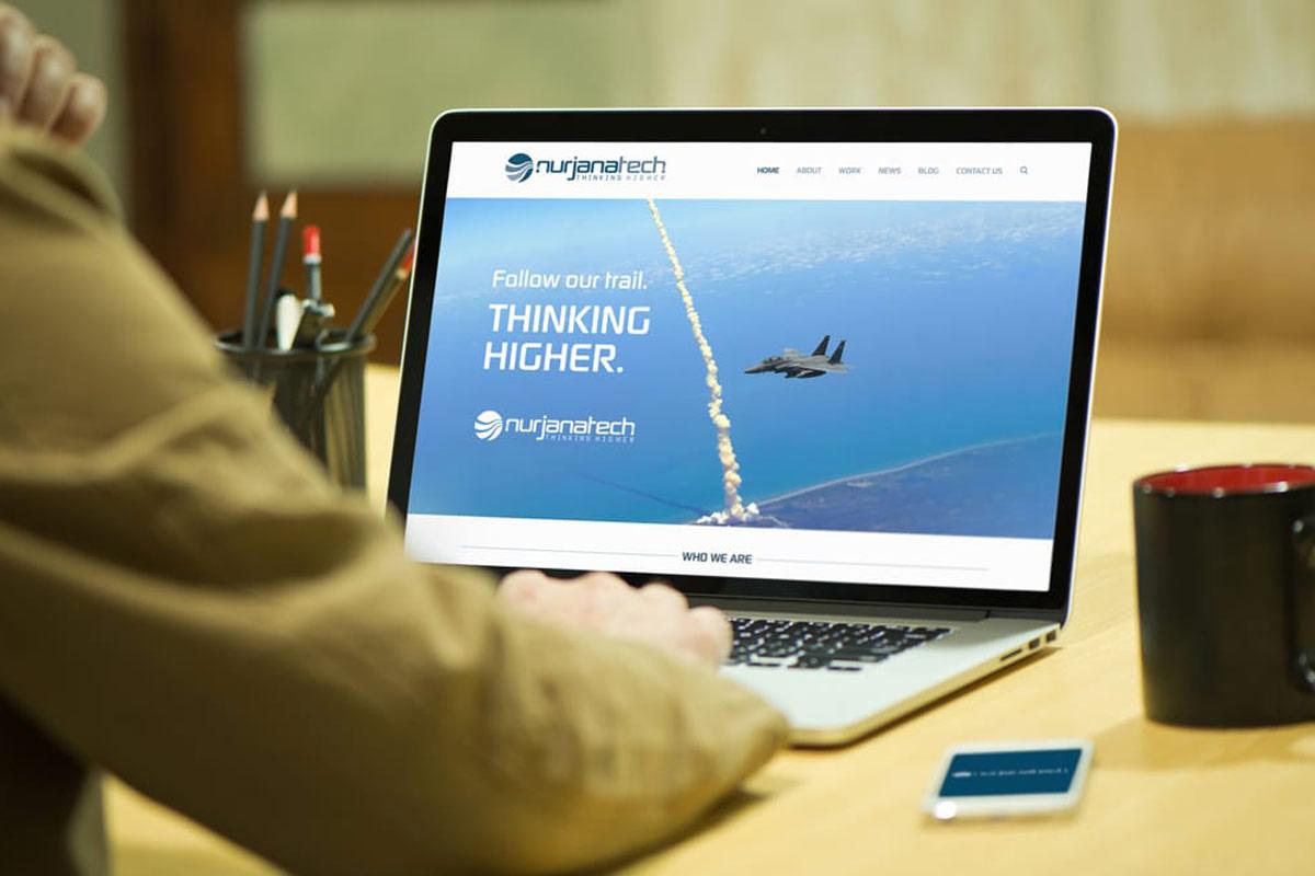 NurjanaTech- sito e immagine coordinata