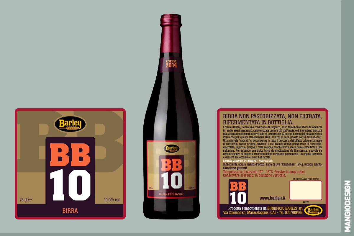 Birrificio Barley - etichetta BB 10