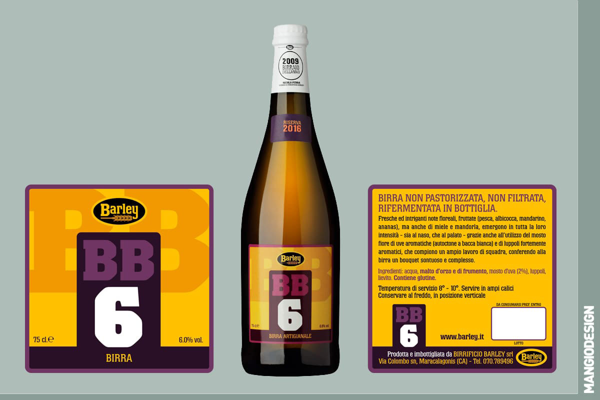 Birrificio Barley - etichetta BB 6