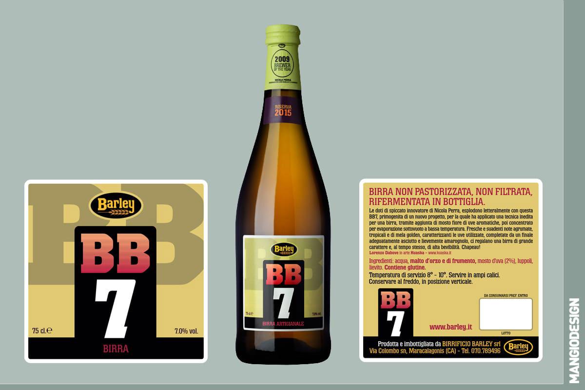 Birrificio Barley - etichetta BB 7