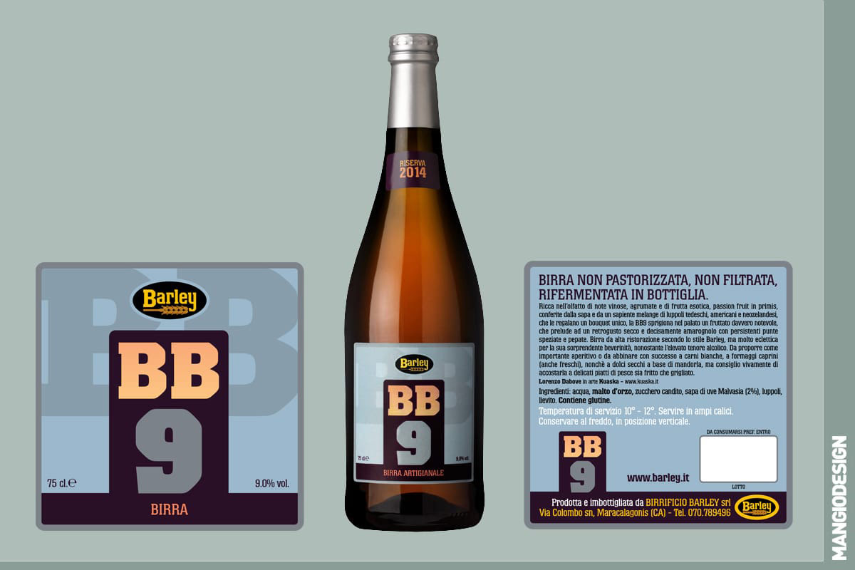 Birrificio Barley - etichetta BB 9