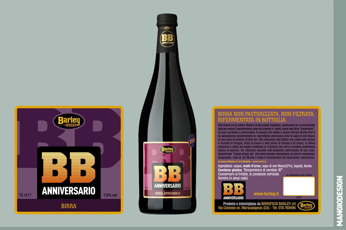 Birrificio Barley - etichetta BB Anniversario