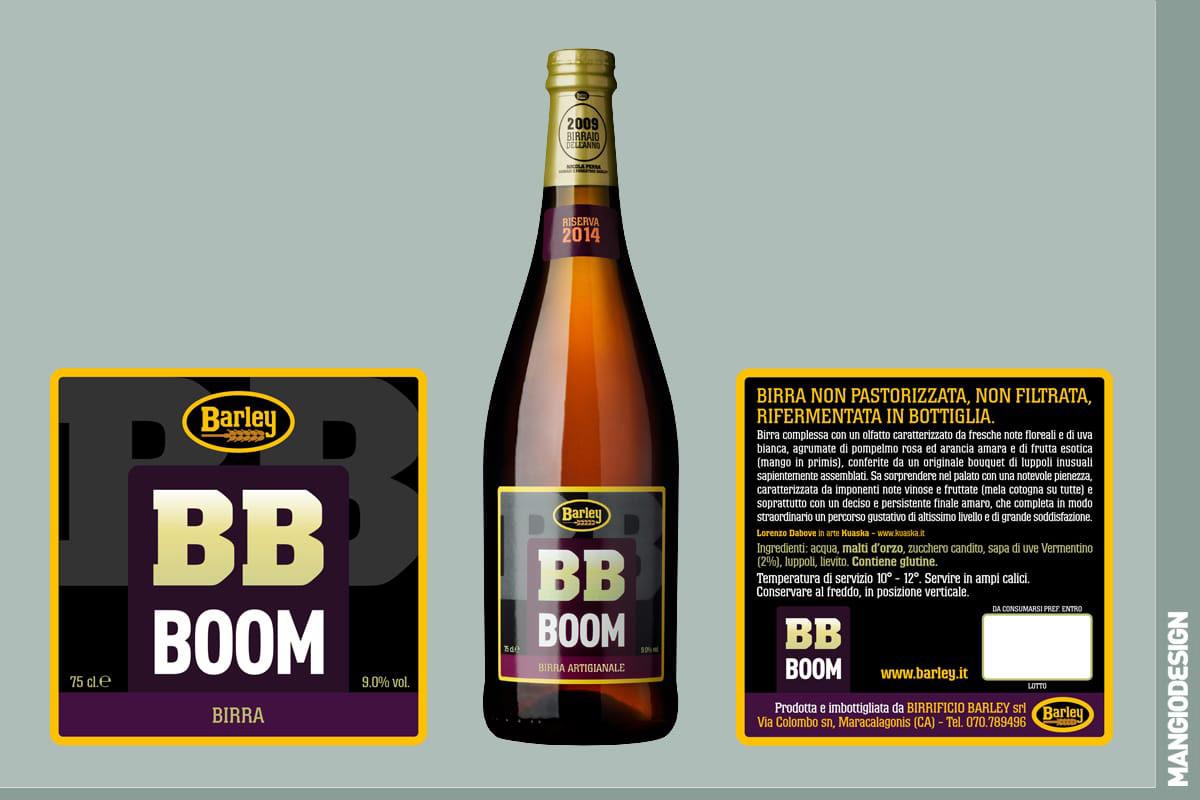 Birrificio Barley - etichetta BB Boom