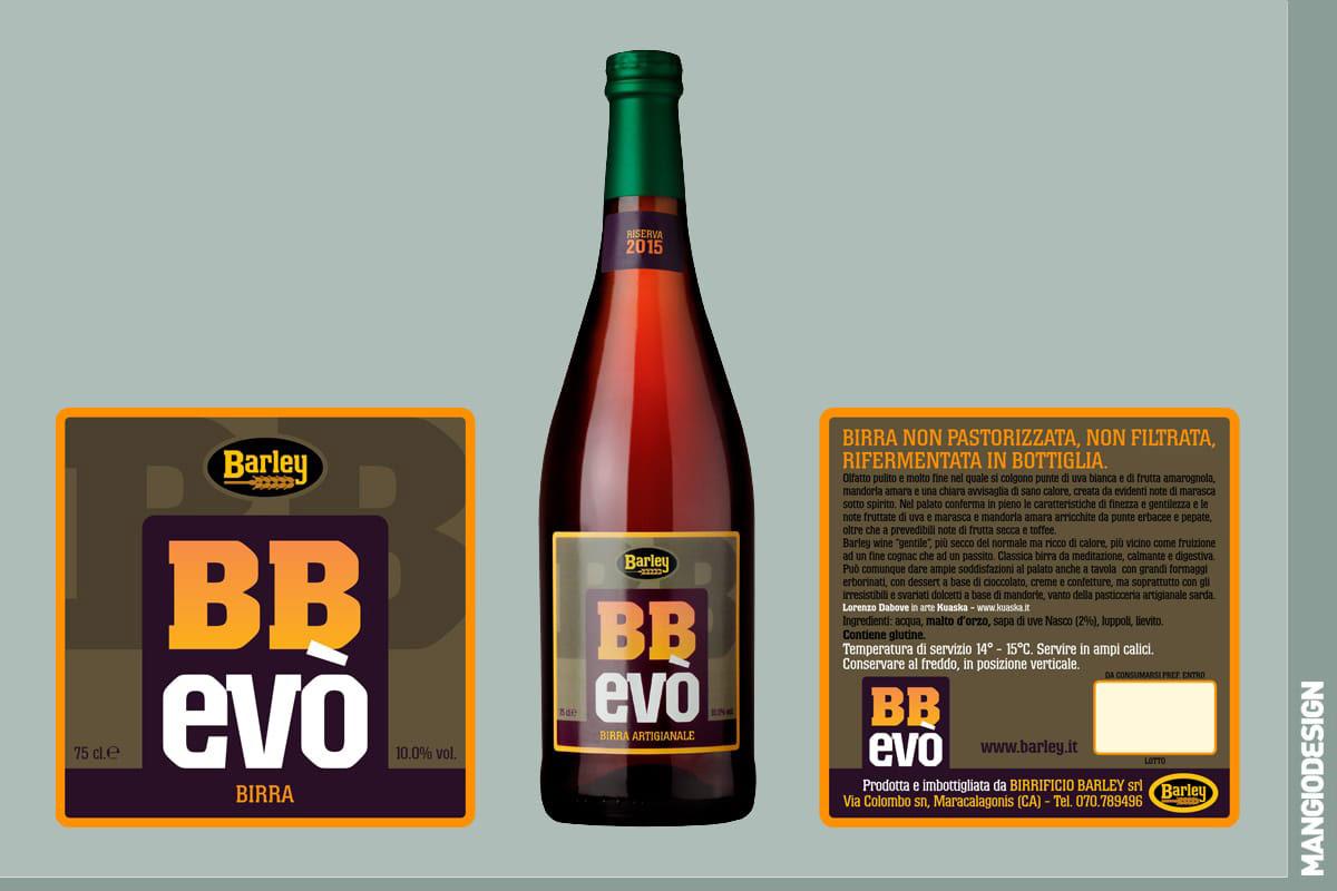 Birrificio Barley - etichetta BB Evò