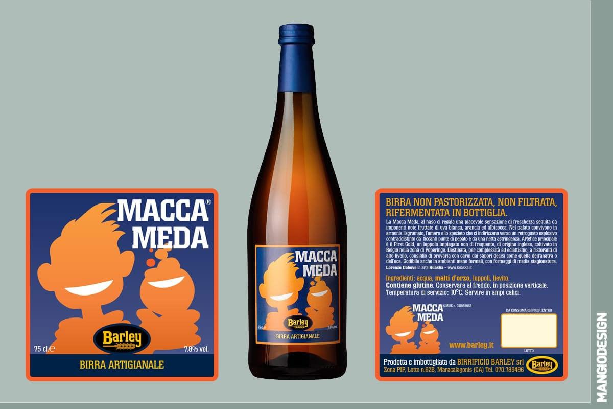 Birrificio Barley - etichetta Macca Meda