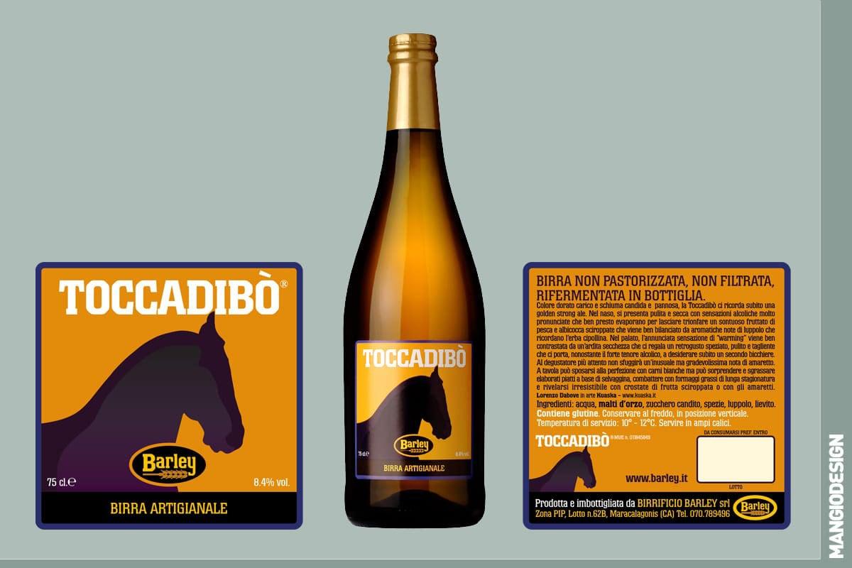 Birrificio Barley - etichetta Toccadibò