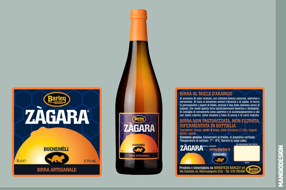 Birrificio Barley - etichetta Zagara
