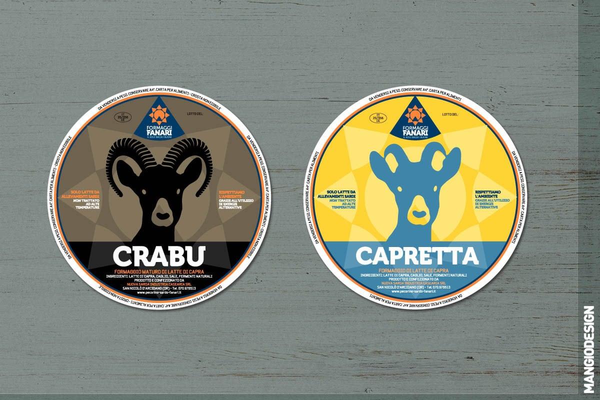 Logo Formaggi Fanari - etichette Crabu e Capretta