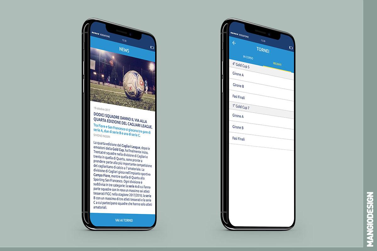 App Mr Soccer 5 - schermata 02 e 03