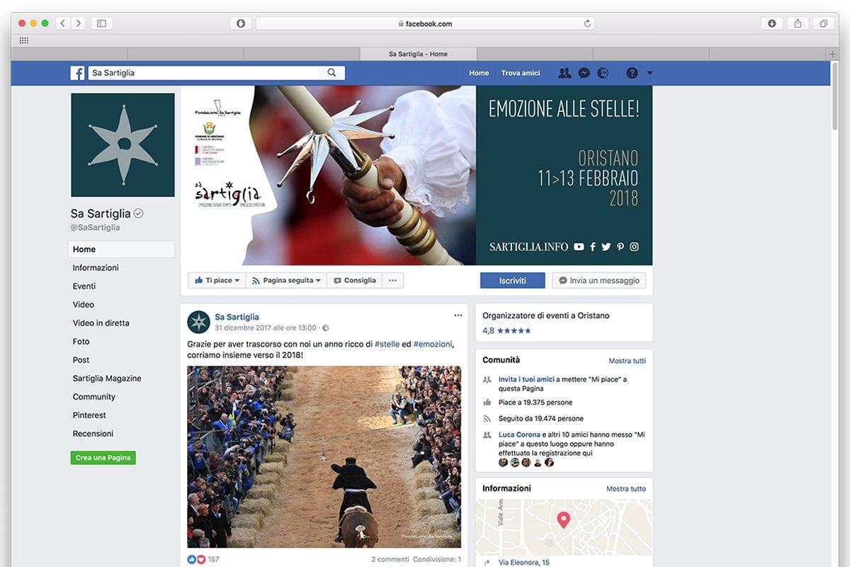 Sa Sartiglia Oristano - post facebook