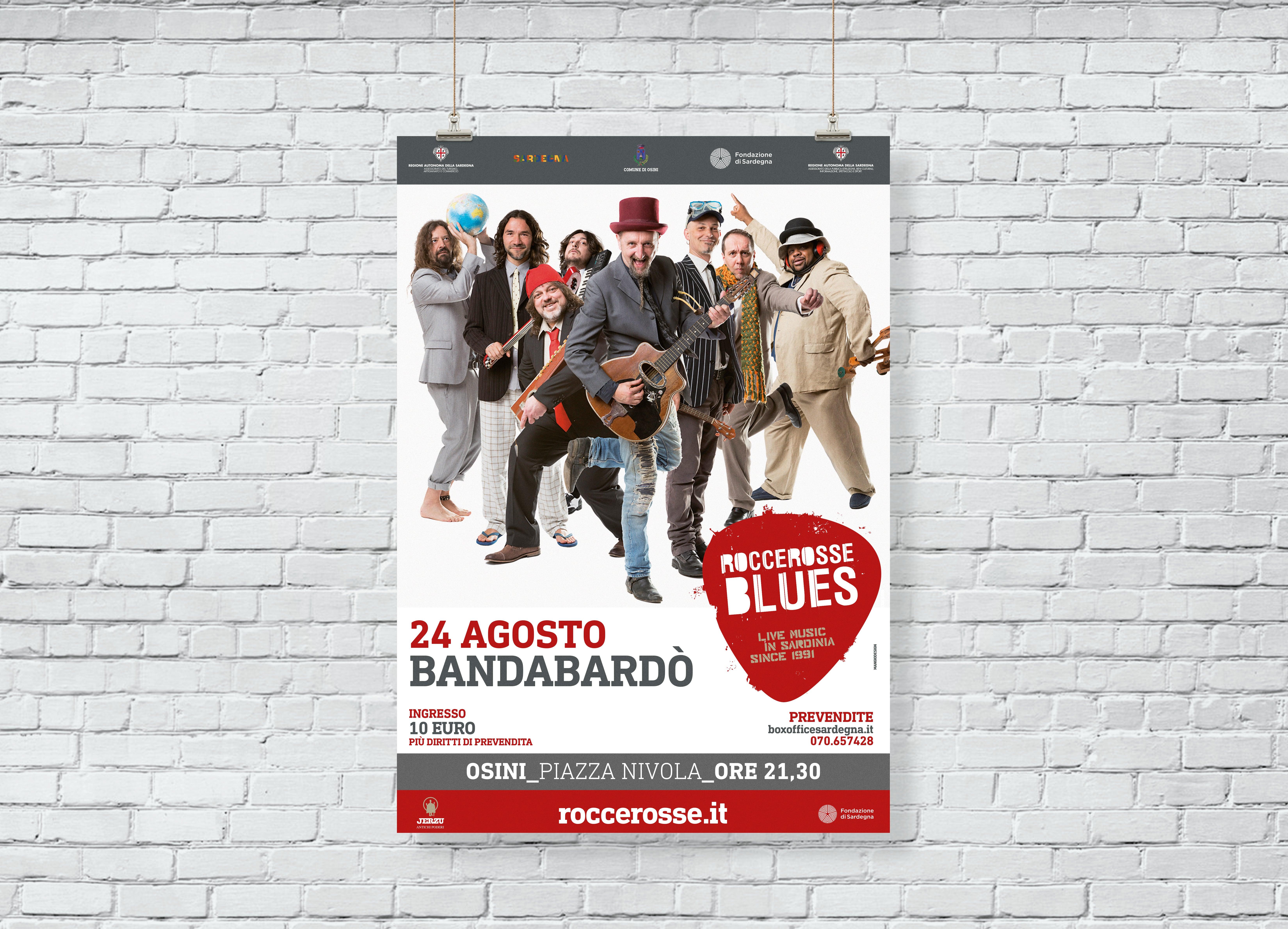 RocceRosse Blues - edizione 2018 - Poster Bandabardo