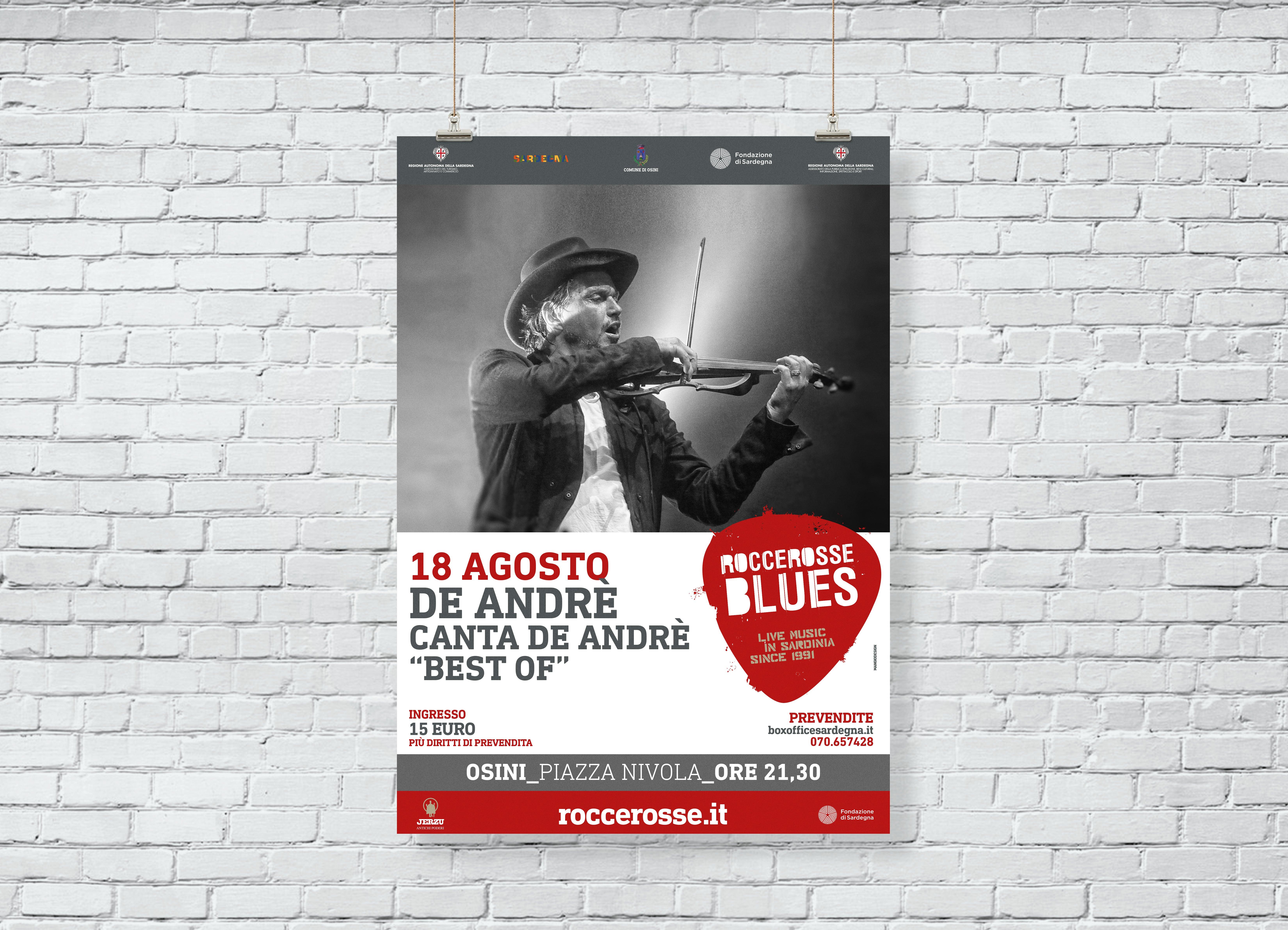 RocceRosse Blues - edizione 2018 - Poster De Andre