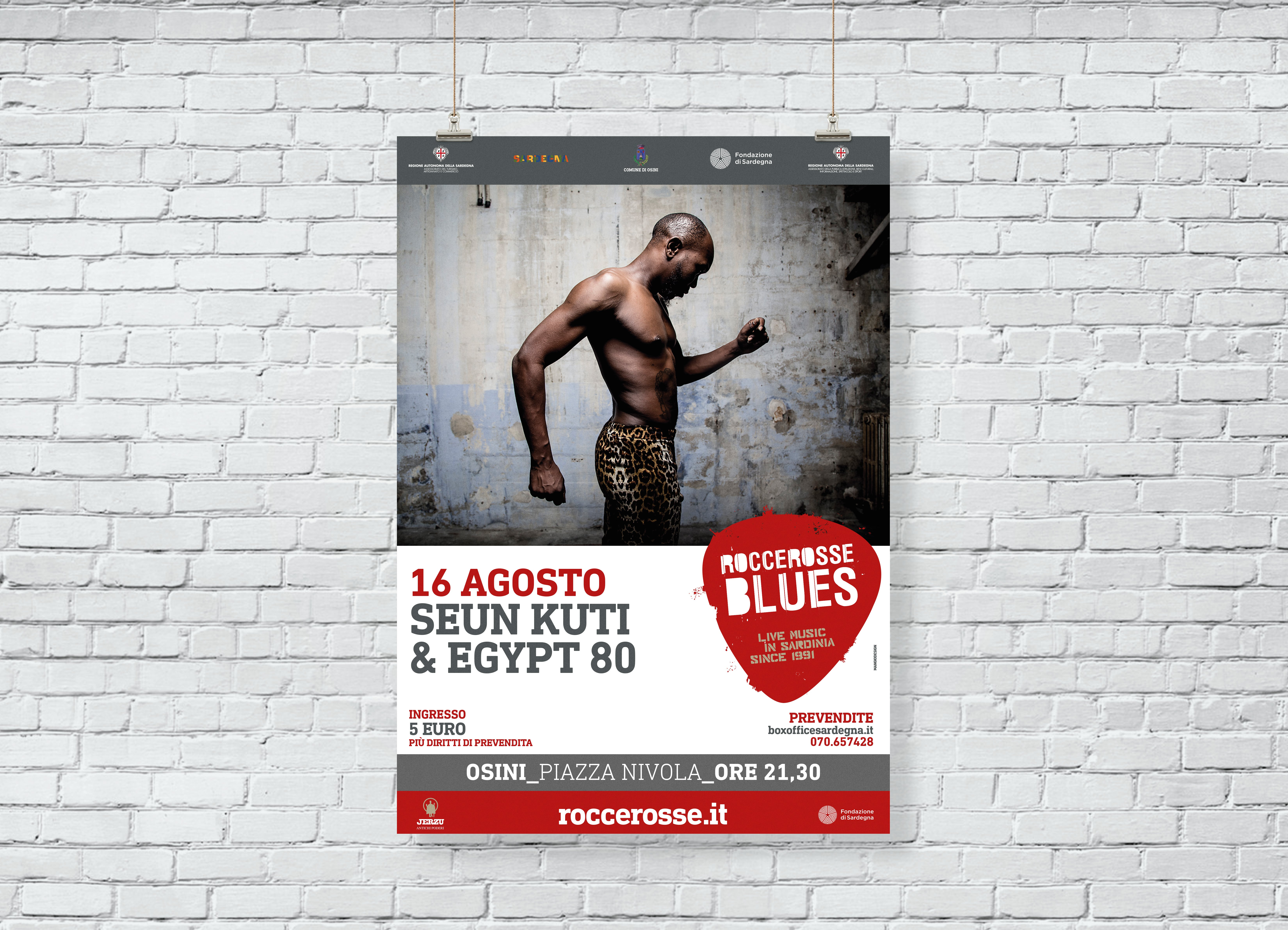 RocceRosse Blues - edizione 2018 - Poster Seun Kuti & Egypt 80